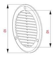 Air Vent Grille Circle 125mm 5